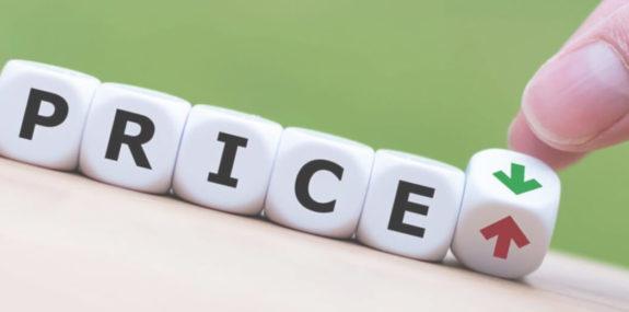 Фото слова price из игровых кубиков