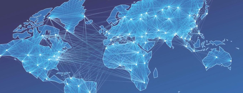Абстрактная карта с точками по регионам