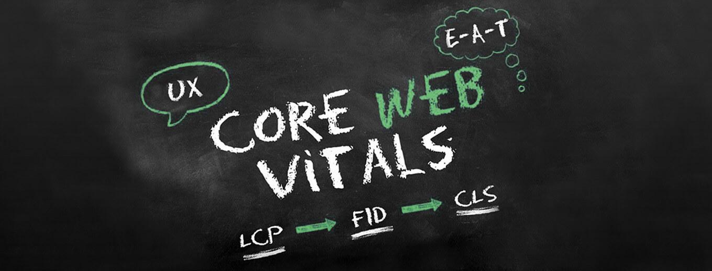 На доске прописаны факторы Core Web Vitals