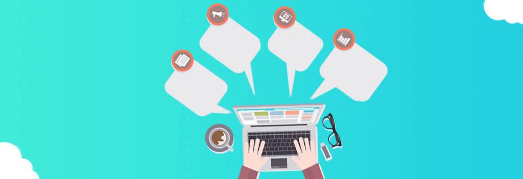 Схематическое изображение работы контент-менеджера